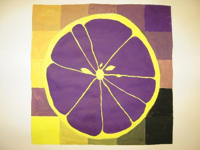 Purple Yellow Complementary Colors